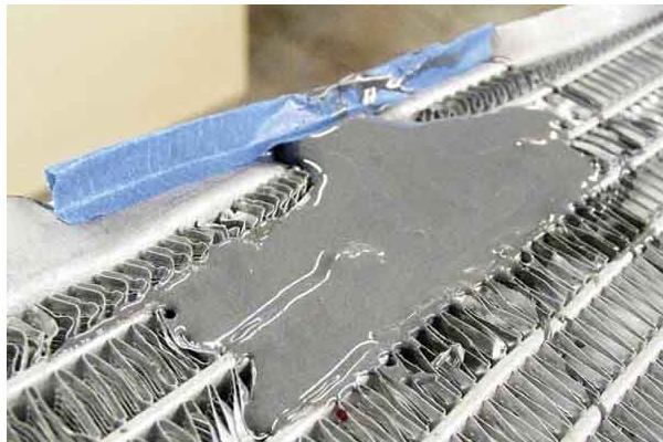 отремонтированный радиатор