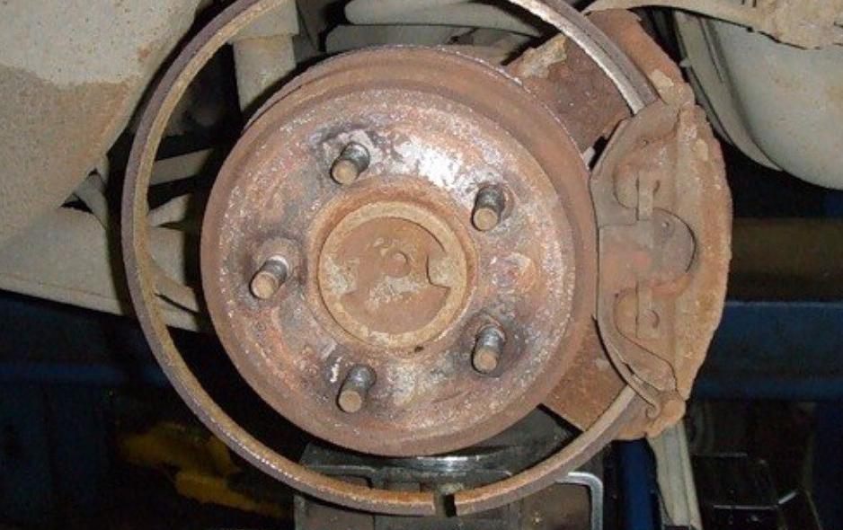 убитый диск колеса