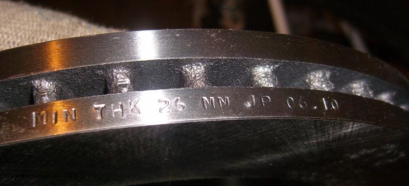 обозначение минимальной толщины диска