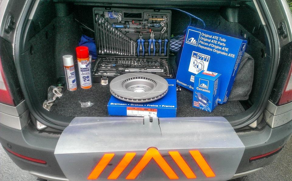 полный набор инструмента для замены тормозных дисков