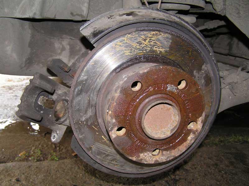 тормозной диск без суппорта