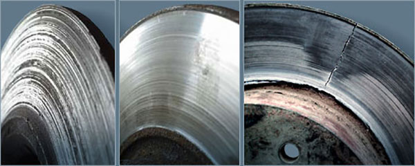 виды повреждения тормозных дисков