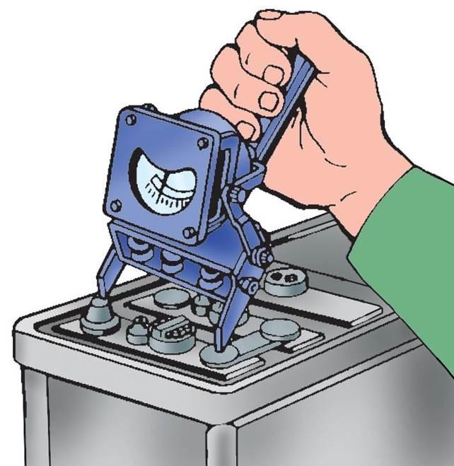 Проверка банок аккумулятора